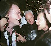 Quentin Tarantino, Malcolm McDowell and Harvey Ketel. Miramax post Oscar party. Beverley Hills Hotel. 26 March 2000. © Copyright Photograph by Dafydd Jones 66 Stockwell Park Rd. London SW9 0DA Tel 020 7733 0108 www.dafjones.com