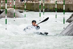 Vid Kuder Marusic of Slovenia during Kayak Semi Finals at World Cup Tacen, 17 October 2020, Tacen, Ljubljana Slovenia. Photo by Grega Valancic / Sportida