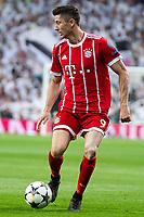 Bayern Munich Robert Lewandowski during Semi Finals UEFA Champions League match between Real Madrid and Bayern Munich at Santiago Bernabeu Stadium in Madrid, Spain. May 01, 2018. (ALTERPHOTOS/Borja B.Hojas)