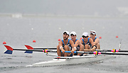 Shunyi, CHINA.  Heat of the Lightweight men's four, USA LM4-, Bow, Mike ALTMAN, Patrick TODD, Will DALY and Tom PARADISO, move away from the start, at the 2008 Olympic Regatta, Shunyi Rowing Course. Sunday 10.08.2008  [Mandatory Credit: Peter SPURRIER, Intersport Images]