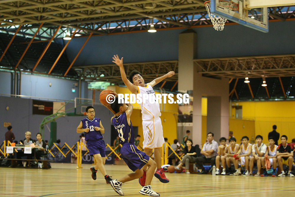 Clementi Sports Hall, Thursday, February 14, 2013 — Dunearn Secondary crushed NUS High 71-26 to top their group in the West Zone B Division Boys' Basketball Championship.<br /> <br /> Story: http://redsports.sg/2013/02/21/west-zone-b-div-bball-dunearn-nus-high/
