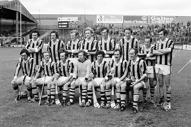 The Kilkenny team before the All Ireland Senior  Leinster Hurling Final Kilkenny v Wexford at Croke Park on the 24th of July 1977. Wexford 3-17 Kilkenny 3-14.