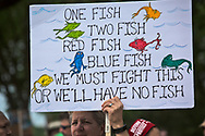 April 29, 2017, sign related to climate chagne held by a woman marching in the People's Climate March in Washignton D.C,