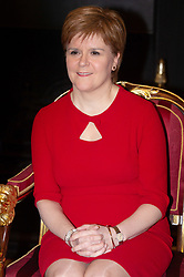 © Licensed to London News Pictures. 28/01/2019. London, UK.  First Minister of Scotland Nicola Sturgeon attends the City of London hosted Burns Night Dinner at Mansion House. Photo credit: Ray Tang/LNP