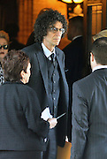 Sept. 7, 2014 - New York City, NY, United States - <br /> <br /> Joan Rivers Funeral<br /> <br /> .Howard Stern arriving at the Joan Rivers memorial service at Temple Emanu-El on September 7, 2014 in New York City<br /> ©Exclusivepix
