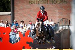 Duguet Romain, (FRA), Quorida de Treho<br /> BMO Nations Cup<br /> Spruce Meadows Masters - Calgary 2015<br /> © Hippo Foto - Dirk Caremans<br /> 12/09/15