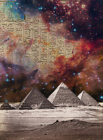 Egyptian Pyramids and hieroglyphs in the cosmos.