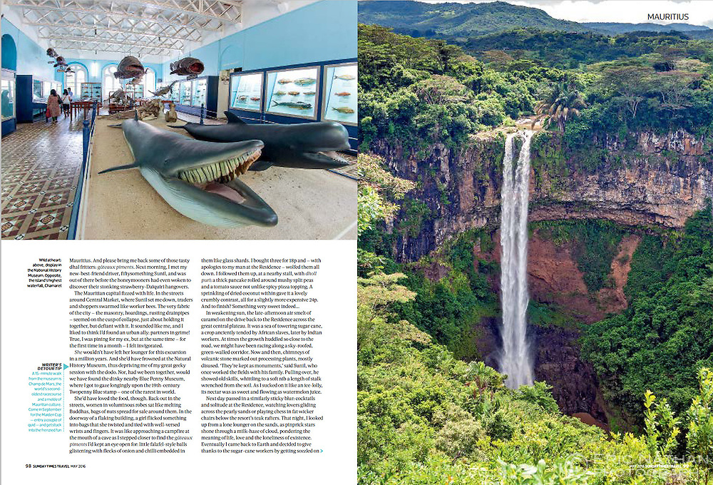 Mauritius feature as published by Sunday Times Travel UK, May 2016