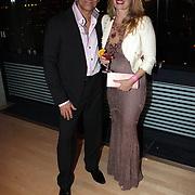 NLD/Amsterdam/20081023 - Presentatie Perfect Age creme, Robert Schoemacher en partner Claudia van Zweden
