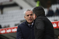 January 6, 2018 - Turin, Italy - Bologna coach Roberto Donadoni and Torino coach Walter Mazzarri during the Serie A football match n.20 TORINO - BOLOGNA on 06/01/2018 at the Stadio Olimpico Grande Torino in Turin, Italy. (Credit Image: © Matteo Bottanelli/NurPhoto via ZUMA Press)