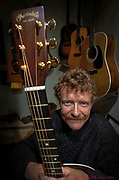 Martin Guitar CEO Chris Martin IV poses for a portrait in the Martin Guitar museum in Nazareth, Pa..<br /> - Photography by Donna Fisher<br /> - ©2020 - Donna Fisher Photography, LLC <br /> - donnafisherphoto.com