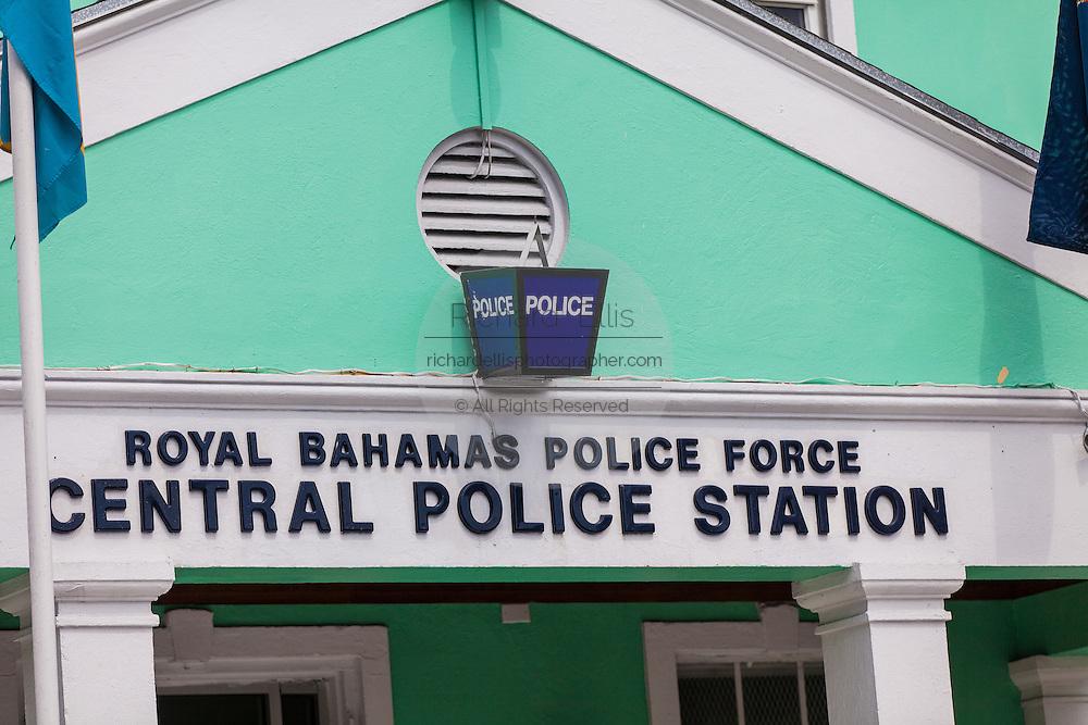 The Royal Bahamas Police central police station in Nassau, Bahamas.