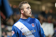 Jordan Richards (Hartlepool United) during the Sky Bet League 2 match between Hartlepool United and Stevenage at Victoria Park, Hartlepool, England on 9 February 2016. Photo by Mark P Doherty.