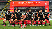 New Zealand All Blacks 7s players do the 'haka' after beating Argentina to win the 2017 HSBC Cape Town Sevens at Cape Town Stadium on 10 December 2017 © Ryan Wilkisky / www.photosport.nz