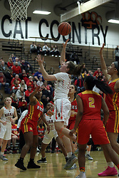 18 February 2019:  23 Rock Island Rocks v Normal Community Ironmen for the 1st round IHSA Girl's Sectional in the gym at Normal West in Normal IL