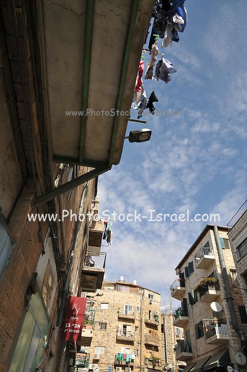 Israel, West Jerusalem, Ha Eshkol Street Machane Yehuda neighbourhood