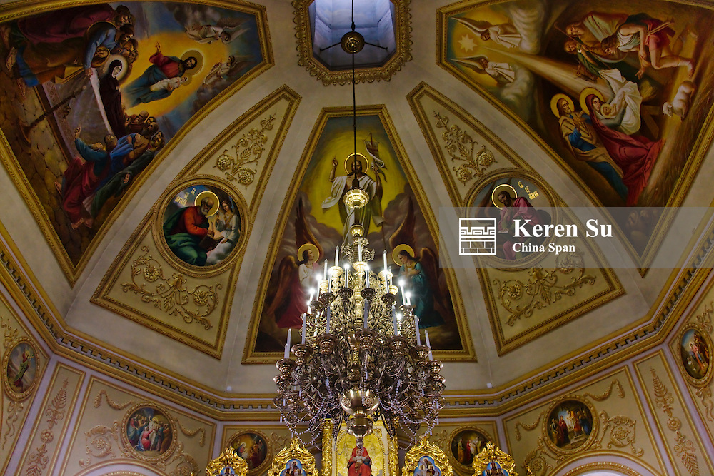 Inside Church of Natizityjesus (Birth of Jesus), Kiev, Ukraine, Europe