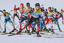 28.02.2021, Oberstdorf, GER, FIS Weltmeisterschaften Ski Nordisch, Oberstdorf 2021, Herren, Langlauf, Teamsprint, Freestyle, im Bild Graham Ritchie (CAN) // Graham Ritchie of Canada during men Cross Country team sprint freestyle competition of the FIS Nordic Ski World Championships 2021 in Oberstdorf, Germany on 2021/02/28. EXPA Pictures © 2021, PhotoCredit: EXPA/ Dominik Angerer