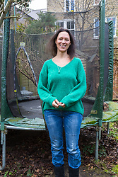 Heather Ferreira-Cole at her home in Brixton, London, where she filmed foxes playing on her children's trampoline. London, March 20 2018.