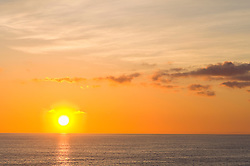 Sunrise sun ocean Mediterranean sea golden