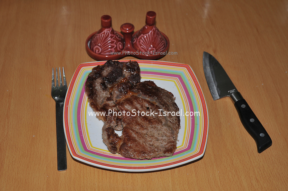 cooked beefsteak on a plate
