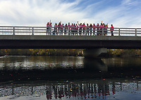 Making Strides walk as seen from the Winnipesaukee River.    Karen Bobotas for the Laconia Daily Sun