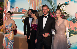 Alexandra of Hanover, Dimitri Rassam, Charlotte Casiraghi, Pierre Casiraghi and Beatrice Casiraghi attend the Rose Ball 2019 at Sporting in Monaco, Monaco on March 30, 2019. Photo by Jacques Witt-Pool/ABACAPRESS.COM