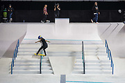 Funa Nakayama, Japan, during the women's final of the Street League Skateboarding World Tour Event at Queen Elizabeth Olympic Park on 26th May 2019 in London in the United Kingdom.