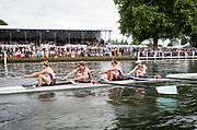 Henley Royal Regatta, Henley on Thames, Oxfordshire, 28 June - 2 July 2017.  Saturday  15:38:05   01/07/2017  [Mandatory Credit/Intersport Images]<br /> <br /> Rowing, Henley Reach, Henley Royal Regatta.<br /> <br /> The Women's Four<br />  Oxford Brookes University and Melbourne University, Australia v  New York Athletic Club, U.S.A.