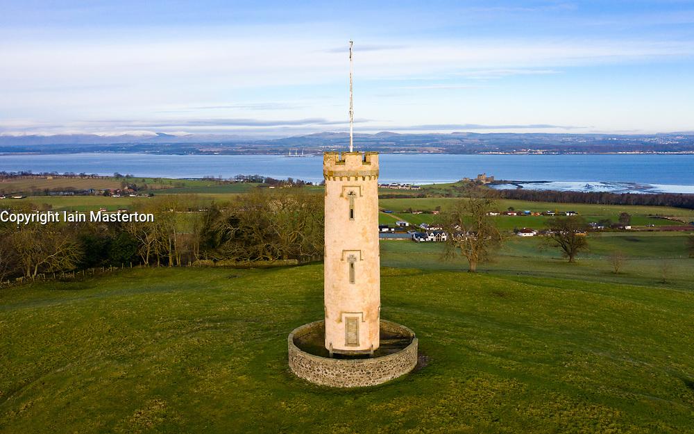 The Binns Tower in West Lothian ,Scotland, UK