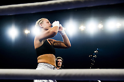 October 21, 2017 - Melsomvik, NORWAY - 171021 Joanna Ekedahl of Sweden celebrates victory against Hannah Rankin of Great Britain during the Oslofjord Fight Night on October 21, 2017 in Melsomvik..Photo: Fredrik Varfjell / BILDBYRN / kod FV / 150032 (Credit Image: © Fredrik Varfjell/Bildbyran via ZUMA Wire)