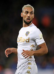 """Leeds United's Kemar Roofe during the Carabao Cup, Fourth Round match at the King Power Stadium, Leicester. PRESS ASSOCIATION Photo. Picture date: Tuesday October 24, 2017. See PA story SOCCER Leicester. Photo credit should read: Mike Egerton/PA Wire. RESTRICTIONS: EDITORIAL USE ONLY No use with unauthorised audio, video, data, fixture lists, club/league logos or """"live"""" services. Online in-match use limited to 75 images, no video emulation. No use in betting, games or single club/league/player publications."""