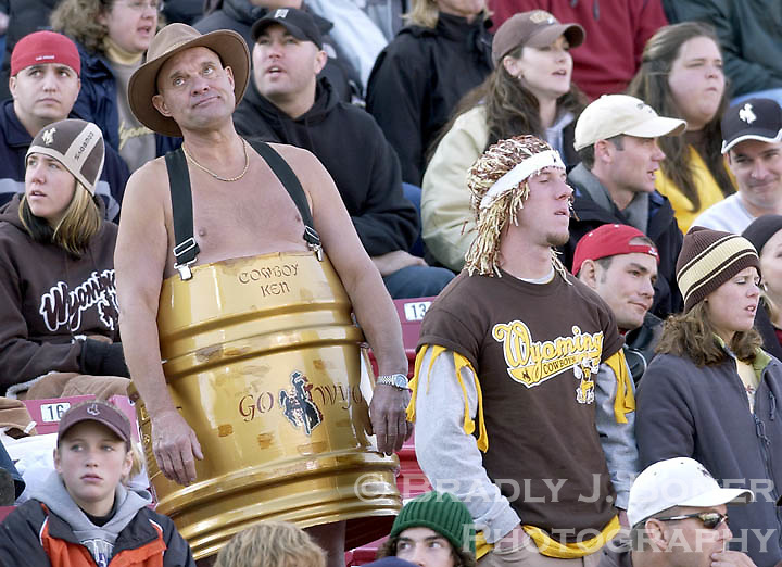 Wyoming football fans lament a Utah touchdown in the third quarter of the Cowboys' game in Salt Lake City. The Pokes suffered their worst loss of the season, falling to the Utes 43-13.