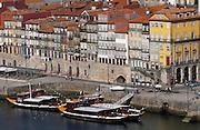 passenger ferry boat cais da ribeira porto portugal