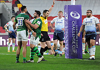 Rugby Union - 2020 / 2021 European Rugby Challenge Cup - Round of 16 - London Irish vs Cardiff - Brentford Community Stadium<br /> <br /> Curtis Rona of London Irish celebrates his winning try<br /> <br /> Credit  COLORSPORT/ANDREW COWIE
