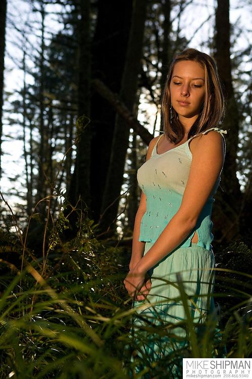 Chel Wechter model portfolio, Cape Perpetua, Oregon