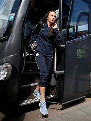 Manchester City's Caroline Weir arrives before the FA Women's Super League match at Kingsmeadow, London.