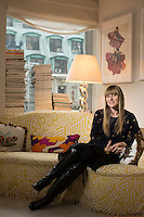 Feb. 1, 2013 - New York - Amy Astley, the editor in chief of Teen Vogue in her New York office. ..Photo by Robert Caplin.©Robert Caplin.