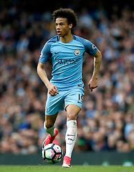 Leroy Sane of Manchester City - Mandatory by-line: Matt McNulty/JMP - 13/05/2017 - FOOTBALL - Etihad Stadium - Manchester, England - Manchester City v Leicester City - Premier League