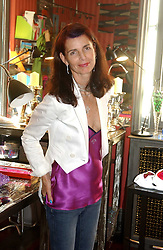 NATHALIE HAMBRO at a launch preview sale of Nathalie Hambro's new line of fashion accessories 'Full of Chic' held at her home 63 Warwick Square, London SW1 on 5th May 2005.<br /><br />NON EXCLUSIVE - WORLD RIGHTS