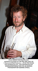 Writer SEBASTIAN FAULKS at an exhibition in London on 19th May 2004.PUH 149