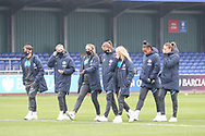 during the FA Women's Super League match between Everton Women and Brighton and Hove Albion Women at the Select Security Stadium, Halton, United Kingdom on 18 October 2020.
