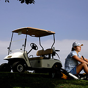 MacKenzie Kline suffers from a bad heart after being born with only one ventricle and battled the United States Golf Association to allow her use of a cart and her oxygen during competition. Photographed for Sports Illustrated