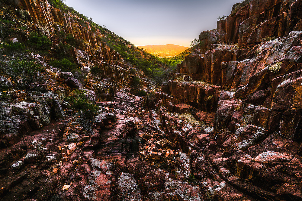 Gawler Ranges exhibits a lot of the volcanic rhyolite (organic pipes).