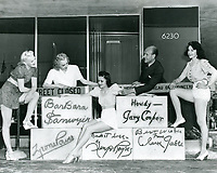 1940 Earl Carroll & showgirls inspecting the autograph blocks for the front of the theater