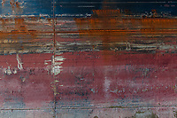 Rusty body of a cargo ship near Lamma island, Hong Kong.