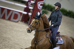 Staut Kevin, (FRA), Qurack de Falaise HDC <br /> Training session<br /> Longines FEI World Cup™ Jumping Finals <br /> Las Vegas 2015<br />  © Hippo Foto - Dirk Caremans<br /> 15/04/15