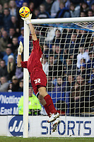 Photo: Pete Lorence.<br />Leicester City v Preston North End. Coca Cola Championship. 18/11/2006.<br />Carlo Nash saves a shot by Iain Hume