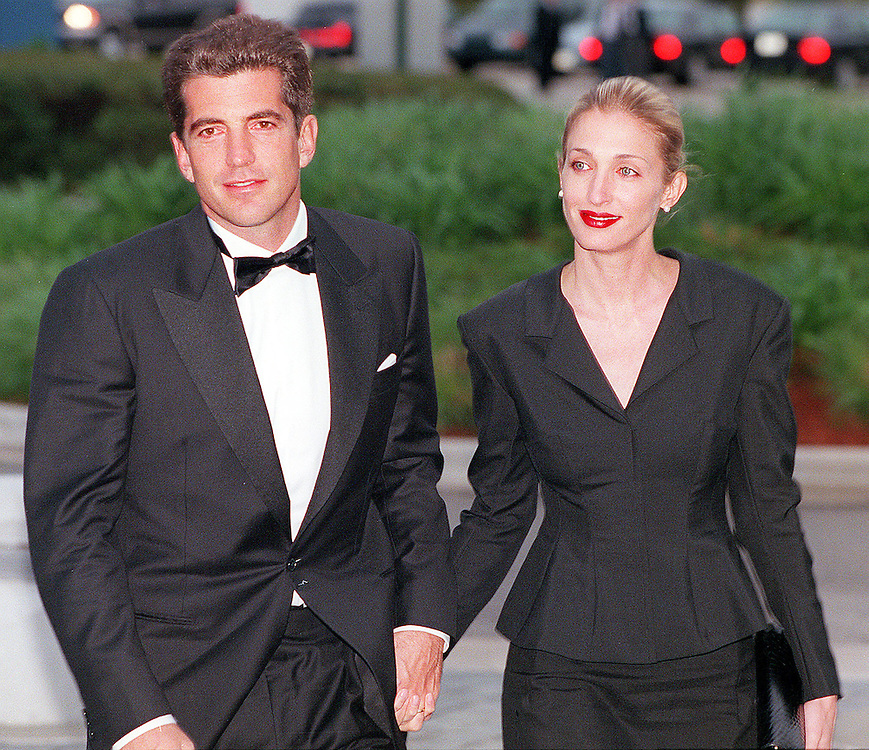 John Kennedy Jr. with his wife Carolyn Bessette Kennedy arrive at the annual John F. Kennedy Library Foundation dinner in honor of the former President's 82nd Birthday, Sunday, May 23, 1999 at the Kennedy Library in Boston, MA.   Photo Justin Ide