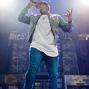 WASHINGTON, DC - February 22, 2015 - Chris Brown performs at the Verizon Center in Washington, D.C. as part of the Between The Sheets Tour with Trey Songz. Brown's latest album, Fan of a Fan: The Album, a collaboration with rapper Tyga, hits stores on Tuesday.  (Photo by Kyle Gustafson / For The Washington Post)